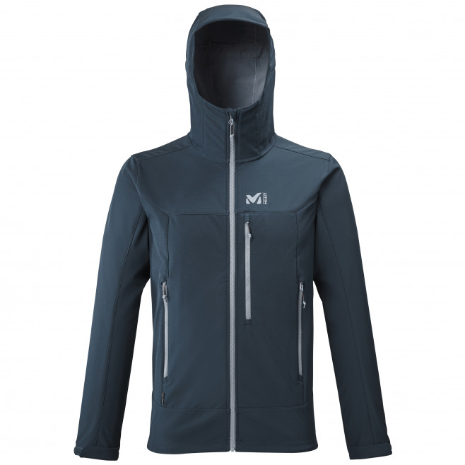 Men's softshell jacket - navy-blue TRACK HOODIE M Millet