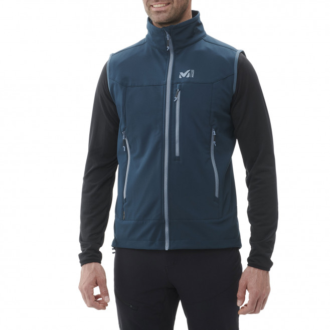 Men's softshell jacket - navy-blue TRACK VEST M Millet 2