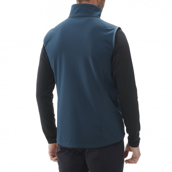 Men's softshell jacket - navy-blue TRACK VEST M Millet 3