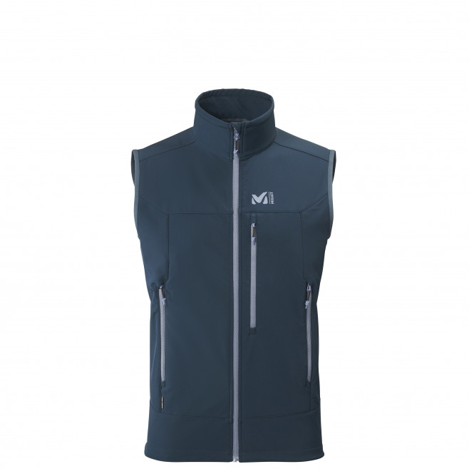 Men's softshell jacket - navy-blue TRACK VEST M Millet