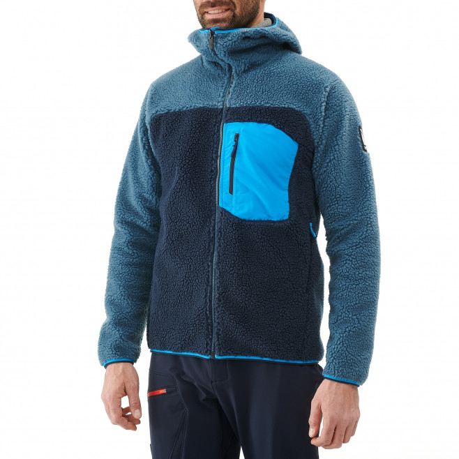 Men's fleece jacket - approach - blue 8 SEVEN WINDSHEEP HOODIE Millet 2