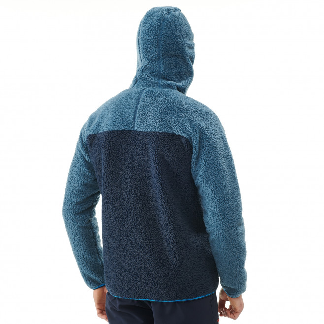 Men's fleece jacket - approach - blue 8 SEVEN WINDSHEEP HOODIE Millet 3