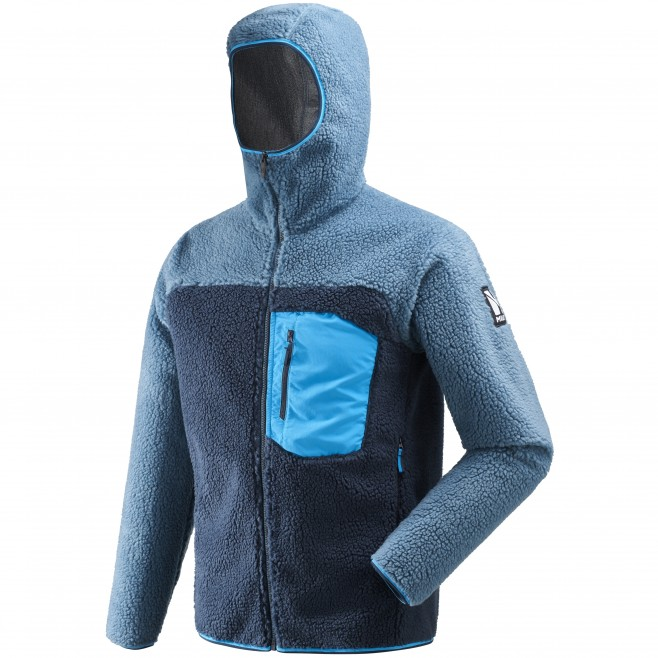 Men's fleece jacket - approach - blue 8 SEVEN WINDSHEEP HOODIE Millet