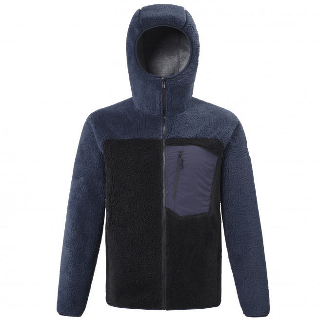 Men's very warm jacket - black 8 SEVEN WINDSHEEP HOODIE M Millet