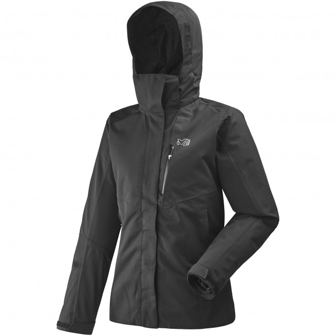 Women's 3 in 1 jacket - hiking - black LD POBEDA 3 IN 1 II JKT Millet