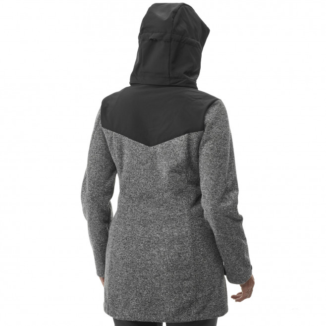 Women's softshell jacket - grey LD PAYUN HOODIE Millet 3
