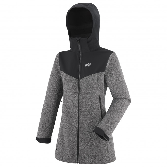 Women's softshell jacket - grey LD PAYUN HOODIE Millet