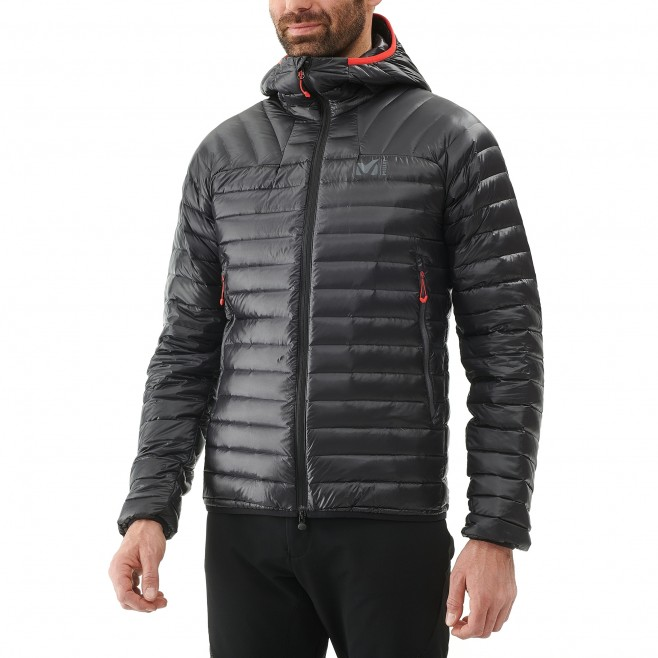 Men's down jacket - mountaineering - red K SYNTH'X DOWN HOODIE Millet 5