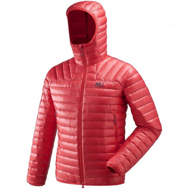 Men's down jacket - mountaineering - red K SYNTH'X DOWN HOODIE Millet