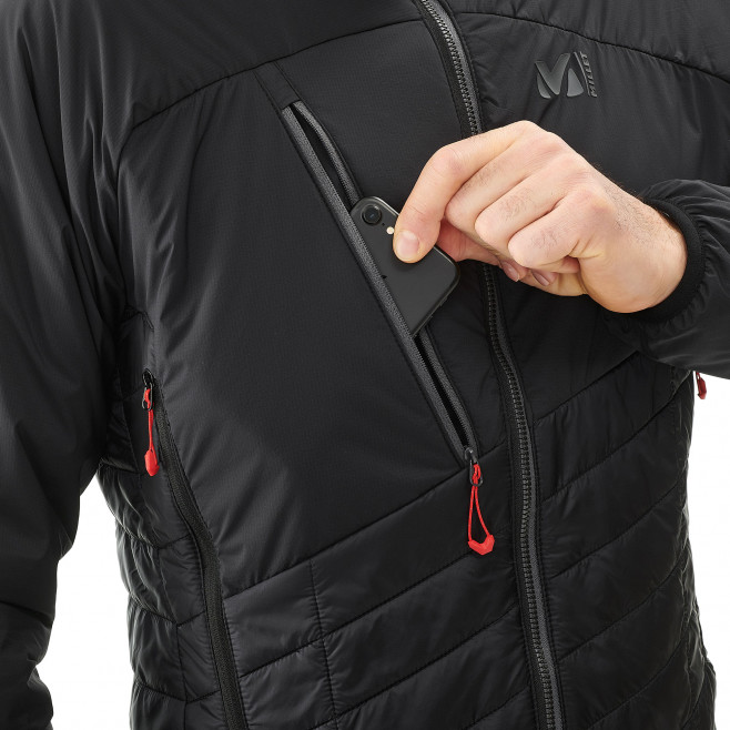 Men's very warm jacket - black ELEVATION AIRLOFT JKT Millet 3