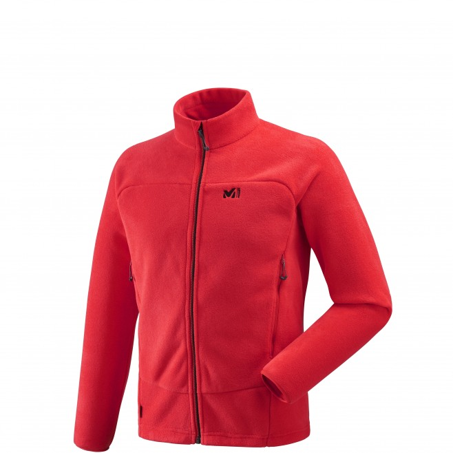 Men's warm fleece jacket - approach - red WILD ALPS JKT Millet