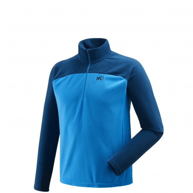 Men's lightweight fleece jacket - approach - blue VECTOR GRID PO Millet