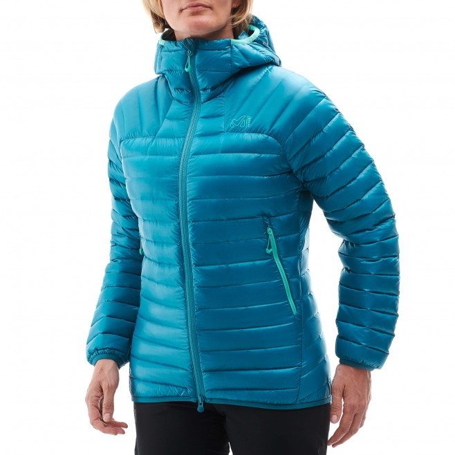 Women's down jacket - mountaineering - red LD K SYNTH'X DOWN HOODIE Millet 2