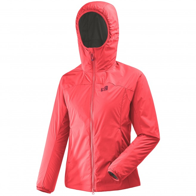 Women's warm jacket - approach - pink LD K BELAY HOODIE Millet