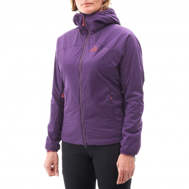 Women's warm jacket - approach - black LD K BELAY HOODIE Millet 2
