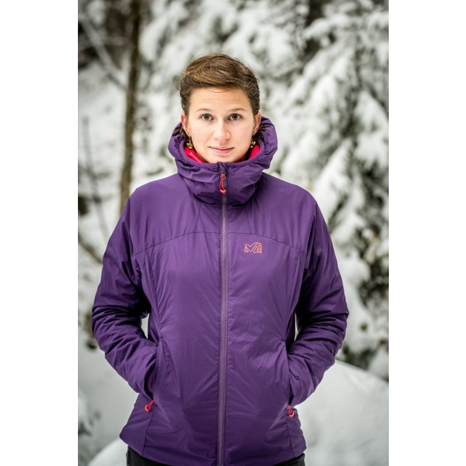 Women's warm jacket - approach - black LD K BELAY HOODIE Millet 7