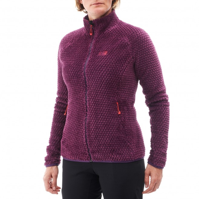 Women's warm fleece jacket - mountaineering - purple LD GRIZZLY BUBBLE LOFT JKT Millet 3