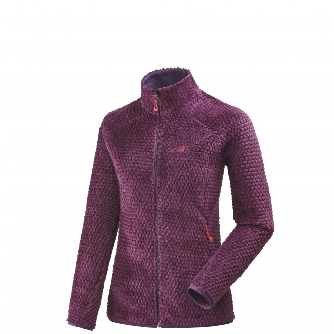 Women's warm fleece jacket - mountaineering - purple LD GRIZZLY BUBBLE LOFT JKT Millet