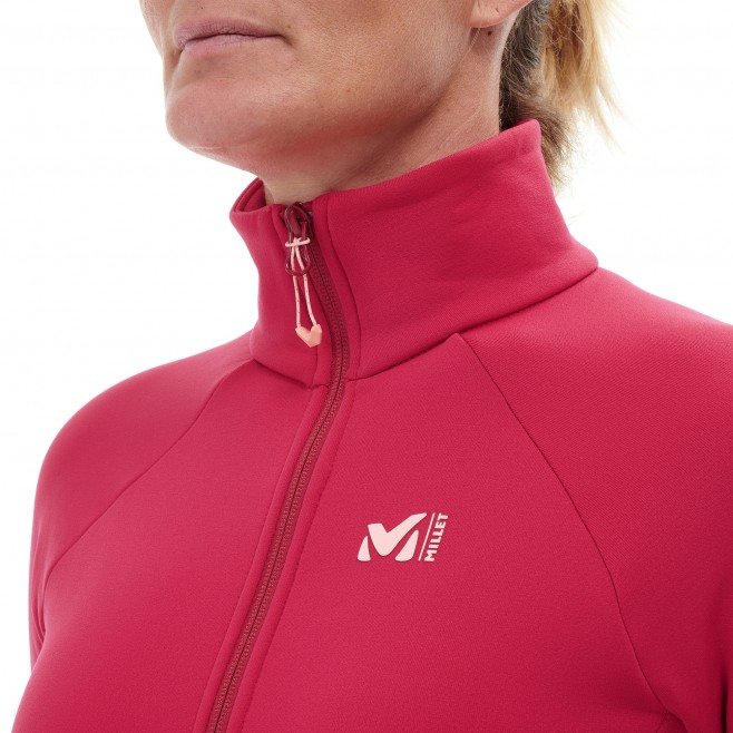 Women's fleecejacket - red CHARMOZ POWER JKT W Millet 5