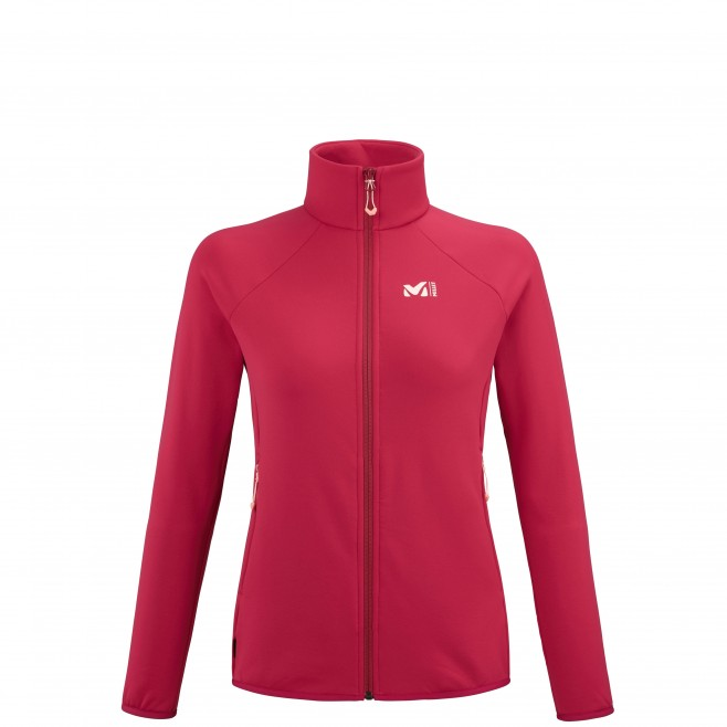 Women's fleecejacket - red CHARMOZ POWER JKT W Millet