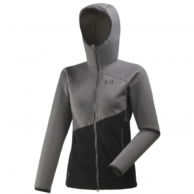 Women's very warm fleecejacket - mountaineering - black LD ELEVATION POWER HOODIE Millet