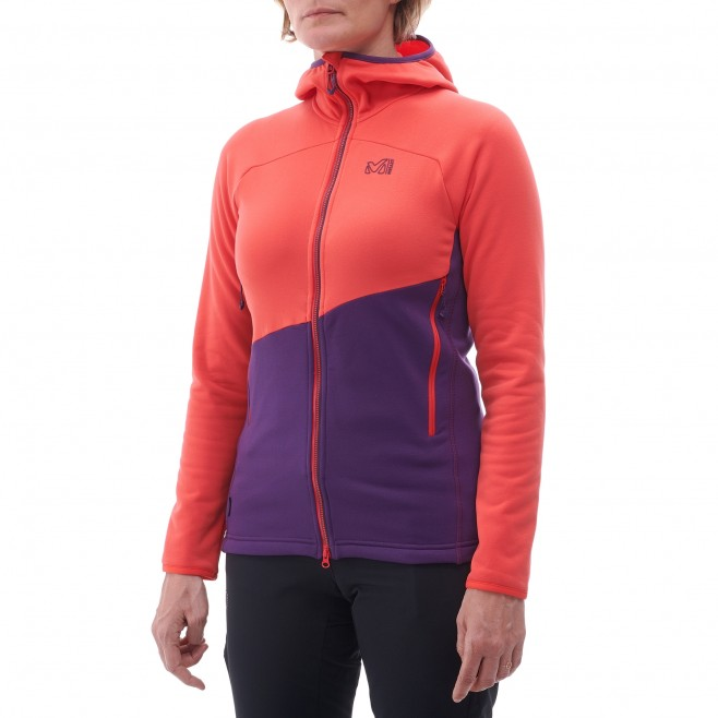 Women's very warm fleecejacket - mountaineering - black LD ELEVATION POWER HOODIE Millet 2