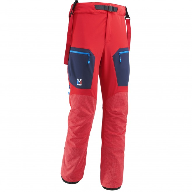 Men's wind resistant pant - mountaineering - red TRILOGY STORM PANT Millet