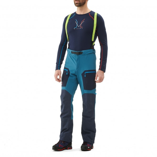 Men's wind resistant pant - mountaineering - blue TRILOGY STORM PANT Millet 2