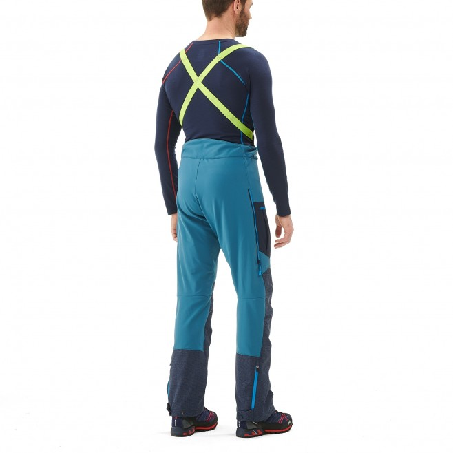 Men's wind resistant pant - mountaineering - blue TRILOGY STORM PANT Millet 3