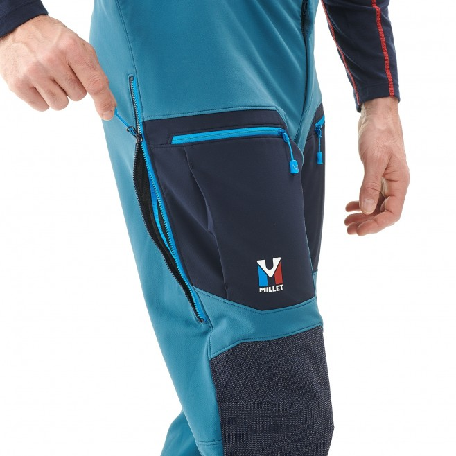 Men's wind resistant pant - mountaineering - blue TRILOGY STORM PANT Millet 4