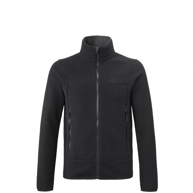 Men's very warm jacket - black LINZOR WOOL JKT M Millet