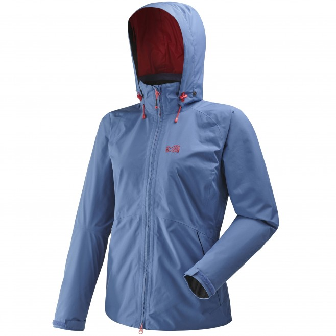 Women's gore-tex jacket - hiking - blue LD GRANDS MONTETS JKT  Millet