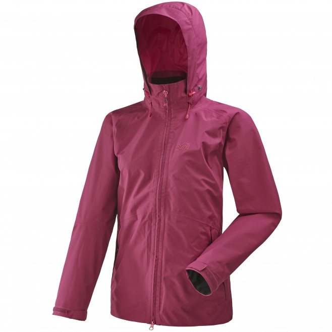 Women's gore-tex jacket - hiking - pink LD GRANDS MONTETS JKT  Millet