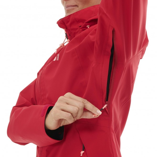 Women's Gore-Tex jacket - red GRANDS MONTETS GTX JKT W Millet 8