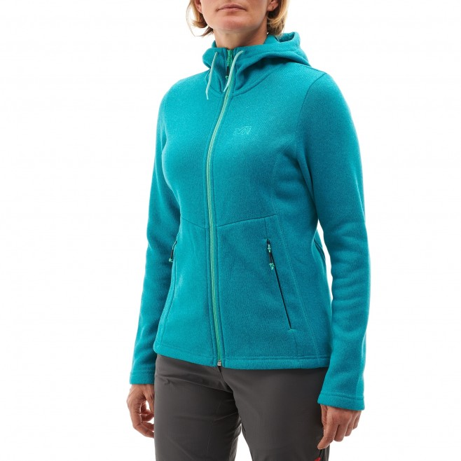Women's warm jacket - hiking - white LD HICKORY HOODIE Millet 2