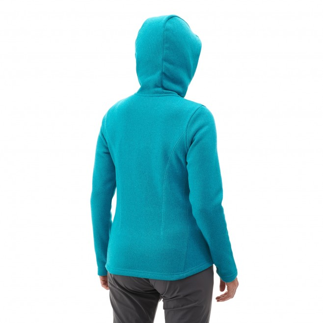 Women's warm jacket - hiking - blue LD HICKORY HOODIE Millet 3