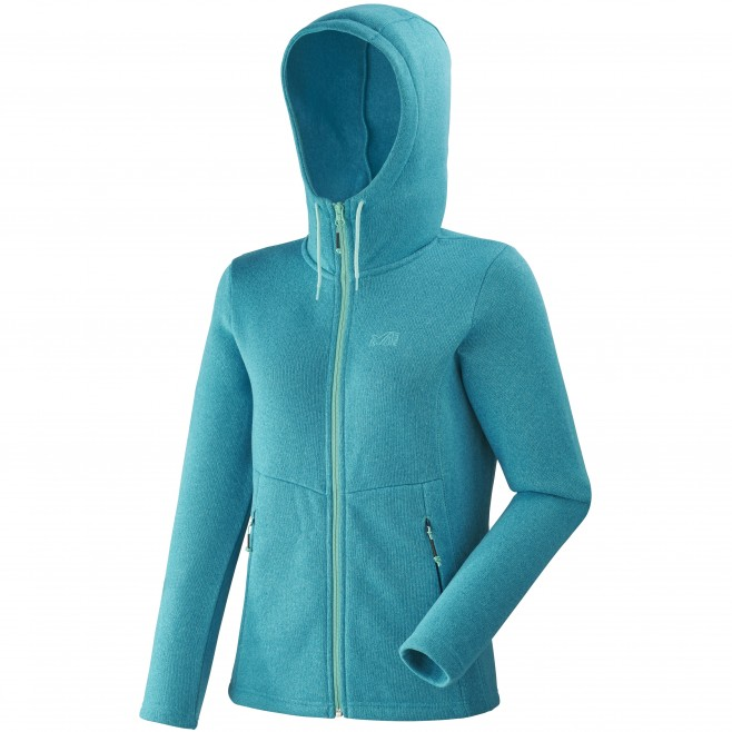 Women's warm jacket - hiking - blue LD HICKORY HOODIE Millet
