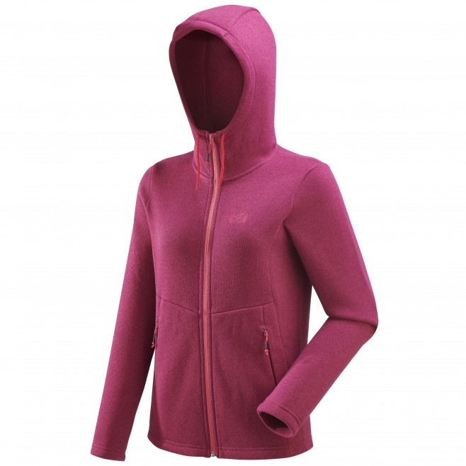 Women's warm jacket - hiking - pink LD HICKORY HOODIE Millet