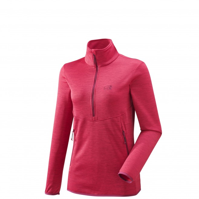 Women's lightweight fleece jacket - hiking - pink LD ASAMA PO Millet