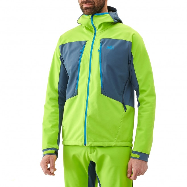 Men's softshell jacket - ski touring - green TOURING SHIELD JKT Millet 2