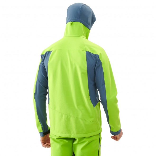 Men's softshell jacket - ski touring - green TOURING SHIELD JKT Millet 3
