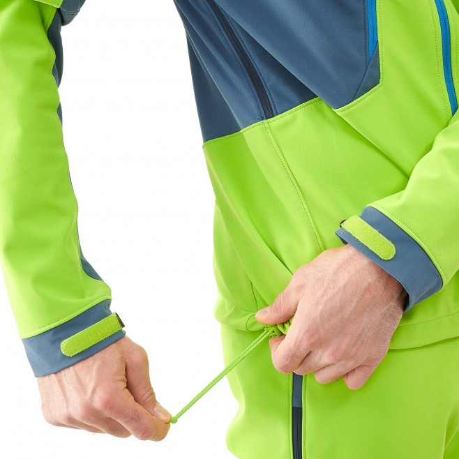 Men's softshell jacket - ski touring - green TOURING SHIELD JKT Millet 5
