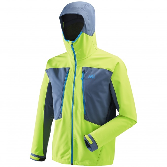 Men's softshell jacket - ski touring - green TOURING SHIELD JKT Millet