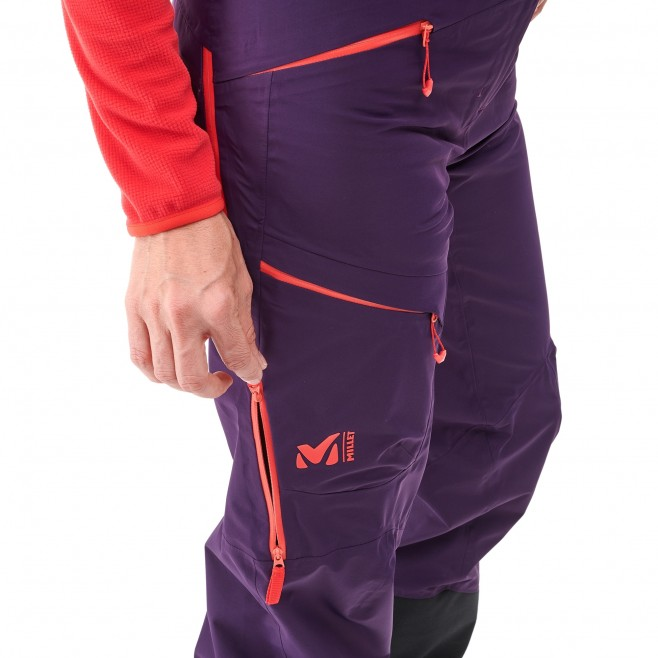 Women's waterproof pant - ski - purple LD M WHITE NEO CARGO PT Millet 4