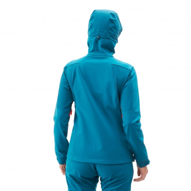 Women's softshell jacket - blue TOURING SHIELD HOODIE W Millet 3