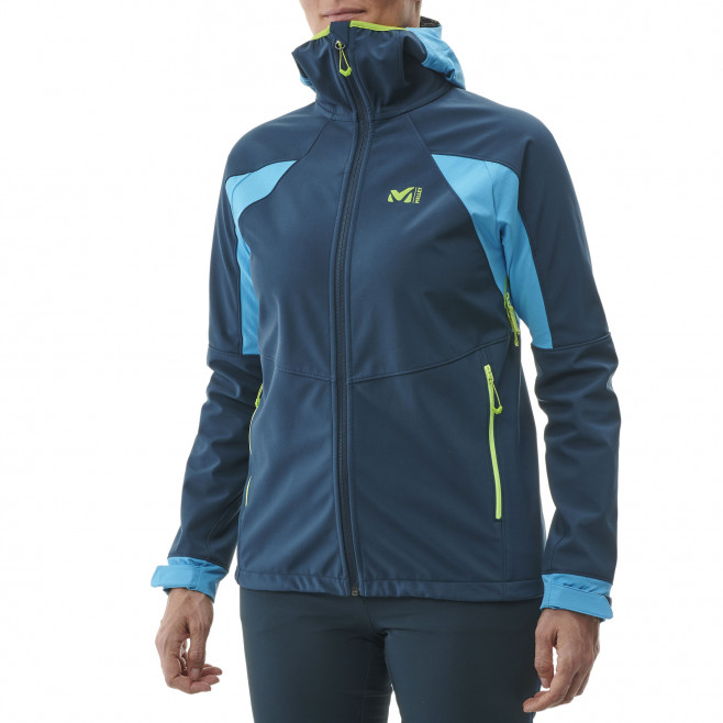 Women's softshell jacket - navy-blue TOURING SHIELD HOODIE W Millet 2