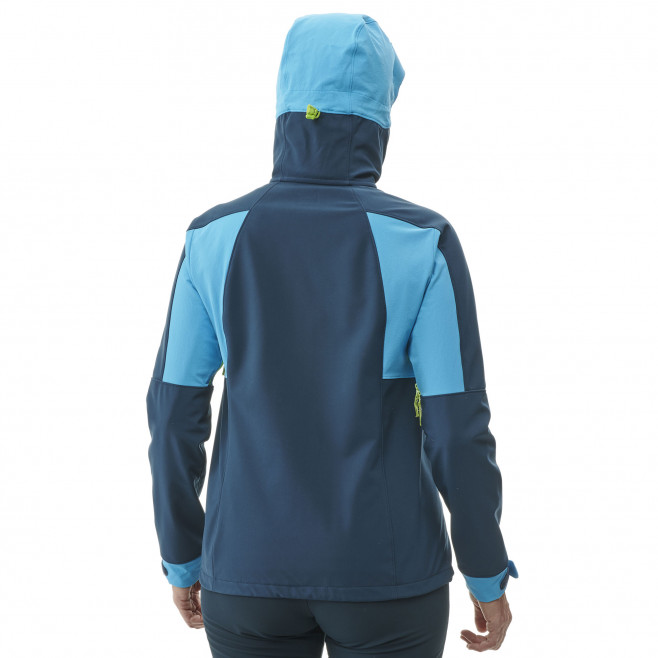 Women's softshell jacket - navy-blue TOURING SHIELD HOODIE W Millet 3