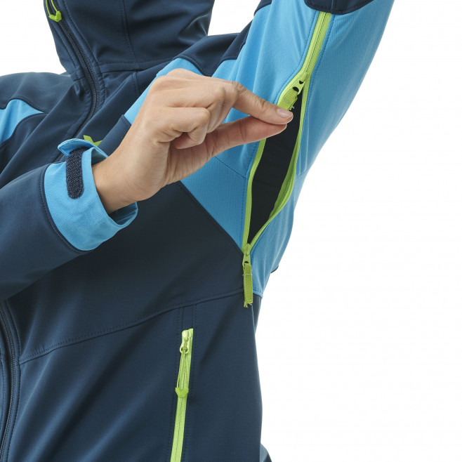 Women's softshell jacket - navy-blue TOURING SHIELD HOODIE W Millet 4