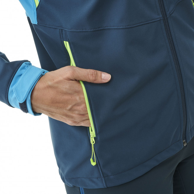 Women's softshell jacket - navy-blue TOURING SHIELD HOODIE W Millet 5