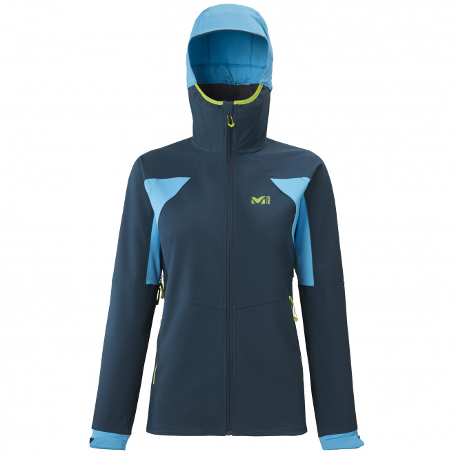 Women's softshell jacket - navy-blue TOURING SHIELD HOODIE W Millet